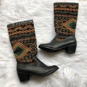 Shoe Dazzle Aztec Boots